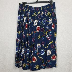 Alfred Dunner pleated color full skirt size 20w